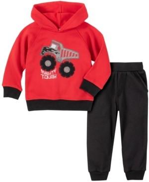 Kids Headquarters Baby Boys Dump Truck Pullover Fleece Pant Set