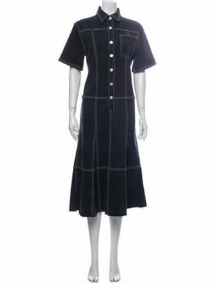 Proenza Schouler Midi Length Dress Grey
