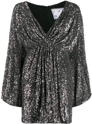 In The Mood For Love Young sequinned flared dress