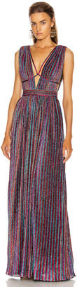 Jonathan Simkhai Open Neck Maxi Dress in Rainbow | FWRD