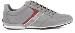 HUGO BOSS Low Top Sneakers With Bamboo Charcoal Lining - Grey