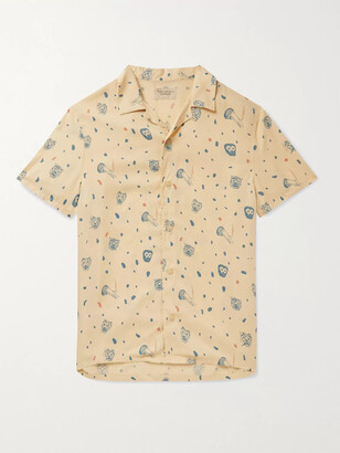 Nudie Jeans Arvid Camp-Collar Printed Lyocell Shirt