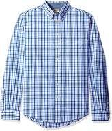 Haggar Men's Big-Tall Big-Tall Long Sleeve Peached Poplin Woven Shirt