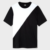 Paul Smith Men's Black And White Panelled Supima-Cotton T-Shirt