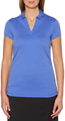 PGA Tour TOUR Womens Hooded Neck Short Sleeve Polo Shirt