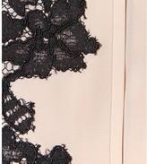 Diane von Furstenberg BLANCHE LACE-TRIMMED SILK SHIRT