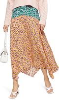 Topshop Thrift Mixed Floral Midi Skirt