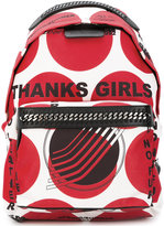 Stella McCartney Thanks Girls print Falabella GO backpack - women - Nylon/Artificial Leather - One Size