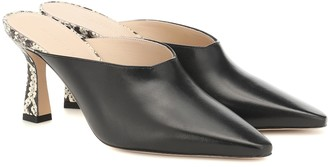 Wandler Exclusive to Mytheresa Lotte leather mules