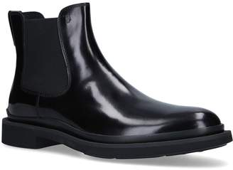 J.P Tods Leather Lite Sole Chelsea Boots
