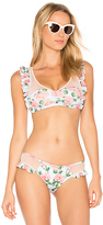 Wildfox Couture Dusty Rose Print Winona Top in Pink. - size M (also in )