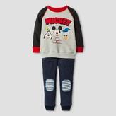 Disney Toddler Boys' Mickey Mouse & Friends Top And Bottom Sets - Gray