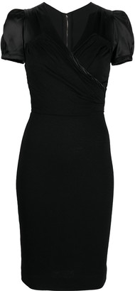 Dolce & Gabbana Pre Owned Panelled Puff Sleeves Dress
