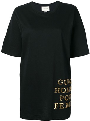 Gucci oversized sequin detail T-shirt