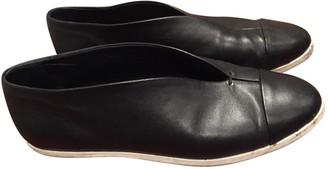 Victoria Beckham Black Leather Flats