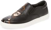 Dolce & Gabbana Men's Leather Round-Toe Slip-On
