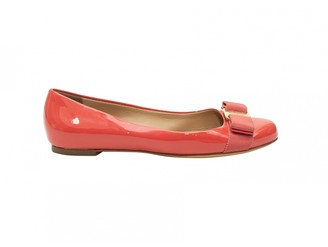 Salvatore Ferragamo Pink Patent leather Flats