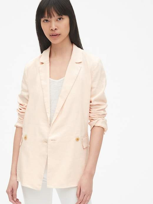 Gap Classic Girlfriend Blazer in Linen
