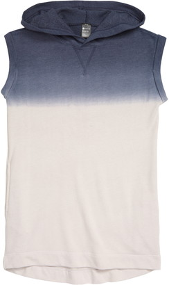 Zella Dip Dye Sleeveless High/Low Hoodie