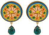 Dolce & Gabbana Daisy crystal-embellished earrings