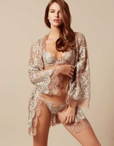 Agent Provocateur Lorelli Kimono Rose Gold And Silver