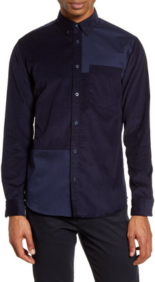 Selected Correy Slim Fit Button-Down Corduroy Shirt