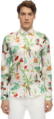 Etro Floral Print Cotton Shirt