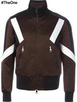 Neil Barrett colour block bomber jacket
