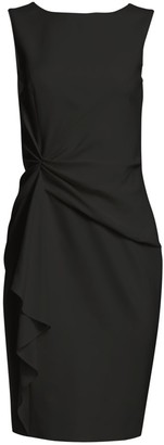 Carolina Herrera Icon Gather Sheath Dress