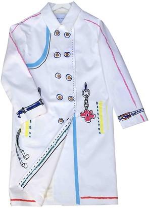 Mira Mikati White Cotton Coat for Women