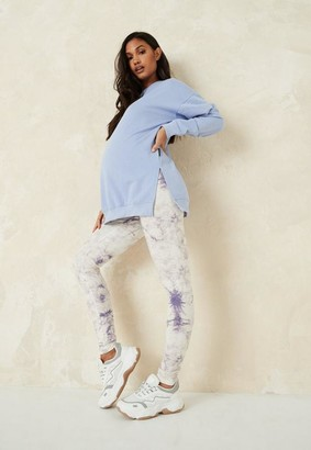 Missguided Lilac Co Ord Tie Dye Maternity Leggings
