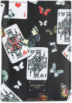 Dolce & Gabbana playing card and butterfly print cardholder