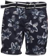 Superdry Mens International Print Chino Shorts Navy Negative Palm