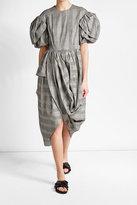 Simone Rocha Printed Cotton Dress with Linen