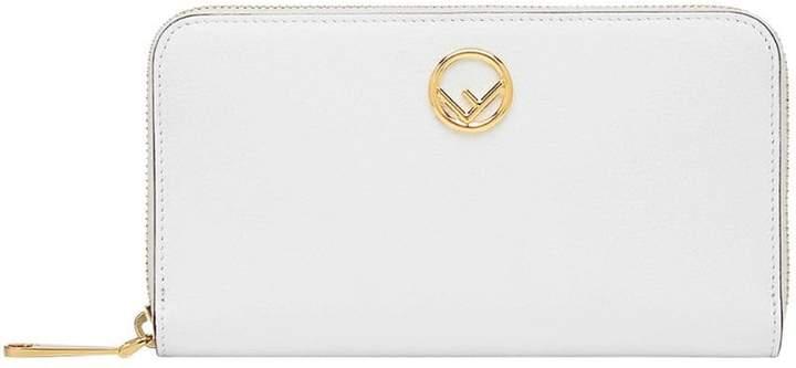 Fendi long logo wallet