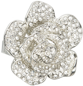 Love Rocks Crystal & Silvertone Rose Ring