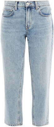 Current/Elliott Cropped High-rise Straight-leg Jeans