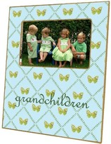The Well Appointed House Aqua Butterfly Decoupage Photo Frame-Can Be Personalized