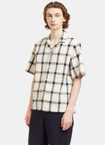 Acne Studios Men's Elm Big Checked Short Sleeved Shirt In White, Pink And Black