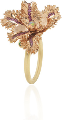 Bibi van der Velden Small Tulip 18K Rose and Yellow Gold Multi-Stone Ring