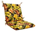 Wildon Home Tropical Floral Iron High Back Indoor/Outdoor Lounge Chair Cushion