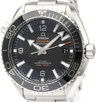 Omega Black Stainless Steel Seamaster Planet Ocean 600M 215.30.44.21.01.001 Men's Wristwatch 44 MM