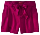 Merona® Women's Pleat Front Short w/Sash - Assorted Colors