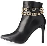 Charlotte Russe Chainlink & Faux Leather Pointed Toe Boots