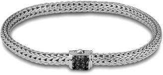 John Hardy Extra Small Chain Bracelet w/ Pave Clasp