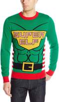 Alex Stevens Men's Super Elf Ugly Christmas Sweater