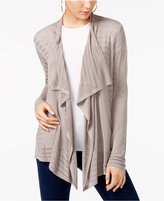INC International Concepts Petite Pointelle Draped Cardigan, Created for Macy's