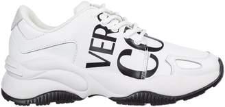 Versace Mens Logo Panelled Sneakers