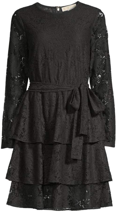 MICHAEL Michael Kors Lace Tiered Dress