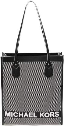 MICHAEL Michael Kors Large Bay Leather Trimmed Tote